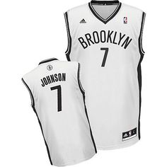 Nets  7 Joe Johnson White Home Revolution 30 Stitched NBA Jersey Nets Jersey 22c5085da