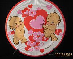 Vintage 1973 Paper Plates Valentines Day Cupid & Arrow Kewpie Doll Plates | eBay