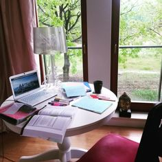 study-hard-inspire-others:  My study space for today and 10 hours of studying ahead of me … hard day, but I'm going to make it!