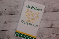 Green Bay Packers Burp Cloth by SweetSouthStitches on Etsy https://www.etsy.com/listing/221137328/green-bay-packers-burp-cloth