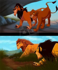 lion king| Scar and Uri, Mufasa and Hacadi