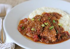 Grillades and Grits - #foodie #foodporn #recipe #cooking #recipes #MyBSisBos