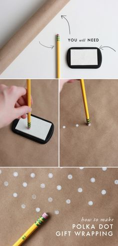 Make your own polka dot wrapping paper!
