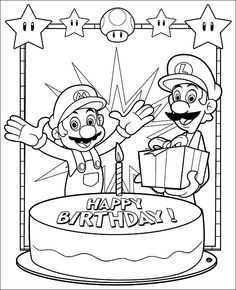 Mario Bros Free Printables Coloring Pages Activity