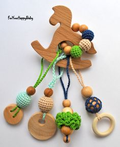 Freeshiping/ Juniper horse / Baby Teether Toy by ForYourHappyBaby