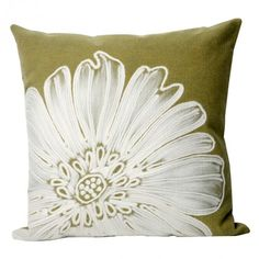 Green Antique Medallion Square Throw Pillow  #PureHome and #OutdoorOasisContest