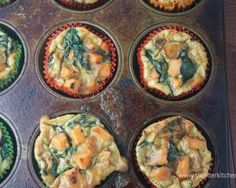 Sweet Potato and Spinach Egg Muffins- Try this perfect low-calorie high-protein breakfast. Easy to make ahead of time too!