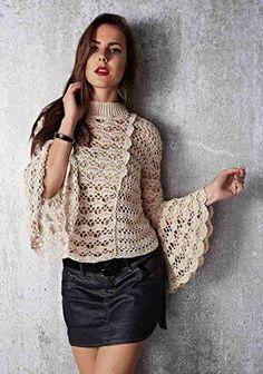 Fabulous Crochet a Little Black Crochet Dress Ideas. Georgeous Crochet a Little Black Crochet Dress Ideas. Moda Crochet, Crochet Stitches, Crochet Patterns, Crochet Blouse, Knit Crochet, Crochet Summer, Look Office, Point Lace, Irish Lace