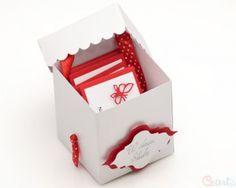 Kartka Ślubna prezent z kuponami biało czerwona