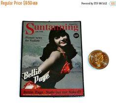 SALE Pinup BETTIE PAGE Magnet 50s Vintage by PopcornVintageByTann
