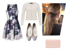 """""""Annie; Bridesmaids"""" by victoria-tull ❤ liked on Polyvore featuring Hallhuber, Ally Fashion, Christian Louboutin, Balmain, Kendra Scott and Yves Saint Laurent"""