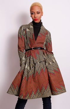 Oh yes. I am all about this Coat. The Gugu Wrap Coat Dress by DemestiksNewYork on Etsy, $150.00