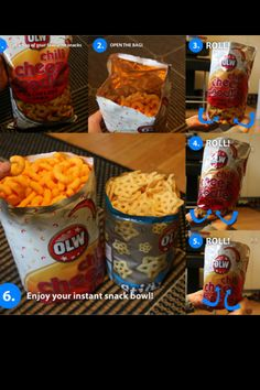 BOWL-BAG  How easy is this. Great for a flat table, and no spilling. It works for all chip bags.