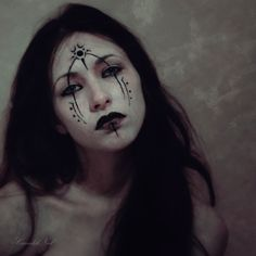 the wild woman. Makeup Inspiration, Character Inspiration, Tribal Face Paints, The Rouge, Witch Aesthetic, High Fantasy, Portraits, War Paint, American Horror Story