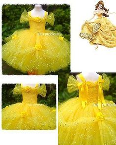 Disney Inspired Beauty and the Beast Belle Princess Tutu Dress                                                                                                                                                      More