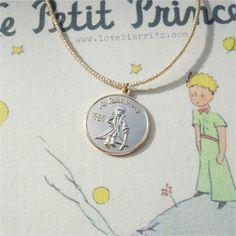 le petit prince 16k gold plated pendant / love biarritz