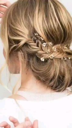 Hair Dos For Wedding, Hairdo Wedding, Long Hair Wedding Styles, Wedding Hair And Makeup, Bridal Hair, Fancy Hairstyles, Bride Hairstyles, Bridesmaid Hairstyles, Indian Hairstyles