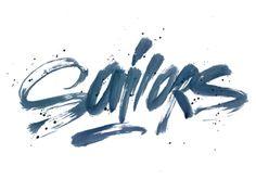 Sailors Typography Logo   http://blog.logoswish.com/