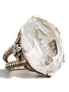 Stephen Dweck Oval Rock Crystal Ring: $440; bergdorfgoodman.com #weddingring #nontraditionalbride #engagementring