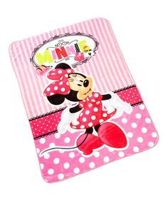 This Polka Dot Minnie Mouse Throw Blanket is perfect! #zulilyfinds