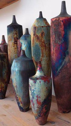 Stunning Raku ceramics - Floral and big vase arrangements - . Stunning Raku Pottery – Floral and big vase arrangements – Raku Pottery, Pottery Sculpture, Pottery Art, Sculptures Céramiques, Sculpture Art, Keramik Design, Grands Vases, Big Vases, Keramik Vase