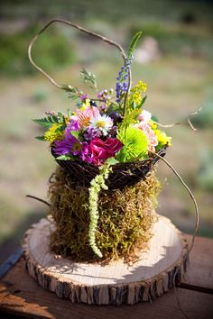 Mammoth Lake Rustic Camp Wedding In Fuchsia & Turquoise | Photograph by David Champagne Photography  http://storyboardwedding.com/natures-finest-on-display-in-this-mammoth-lake-stunner-of-a-wedding/