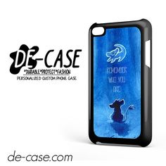 The Lion King Movie, Simba, Remember Who You Are Hakuna Matata For Ipod 4 Case Phone Case Gift Present