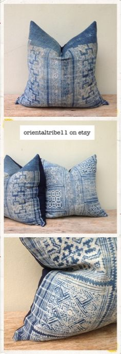 Vintage Ethnic Hmong Batik Decorative Throw Pillow Case by orientaltribe11 on etsy  http://www.etsy.com/shop/orientaltribe11