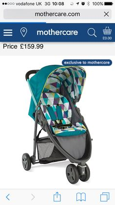 This the pram that I got from mothercare. The gracco evo mini. Suitable from birth. In this exclusive colour. I love this so much and can not wait to use it xx