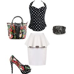 Outfit for Hooters Platforms by jessica-shoelover on Polyvore  #styleitfab