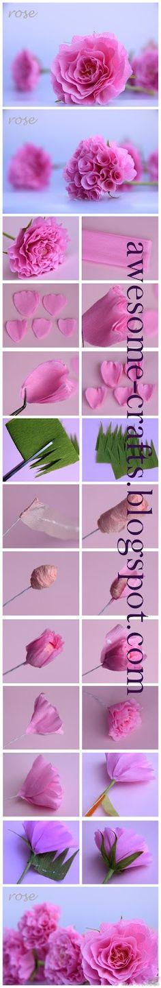 Impressionante-Artesanato: Flores de papel - I