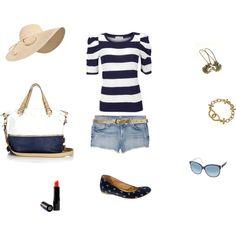 A nautical summer look.