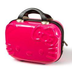 HK |❣| HELLO KITTY Pink Travel Makeup Case