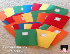 Summer Take Home Literacy Folders:  folders to promote literacy during the summer