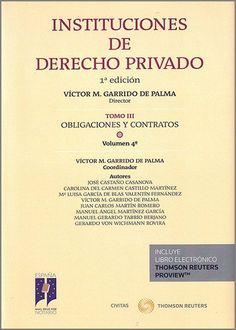 Instituciones de derecho privado. T. 3, Obligaciones y contratos. Civitas, 2002-2021 Authors, Law, Tips, Libros