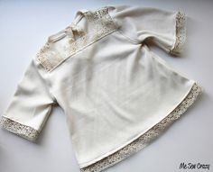 lace lined sweatshirt