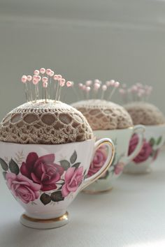 CHINA TEA CUP Pin Cushion