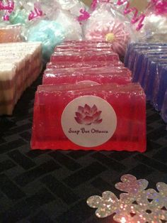 Sparkling Strawberry Soap from Soap Box Ottawa  www.facebook.com/soapboxottawa