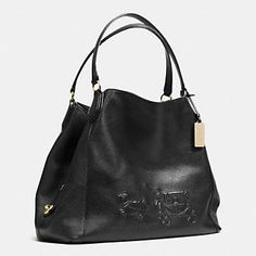 Coach :: EMBOSSED HORSE AND CARRIAGE LARGE EDIE SHOULDER BAG IN PEBBLED LEATHER