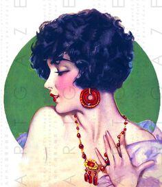 Fabulous Flaper With Dazzling Jewellery Art Deco by Artgaze
