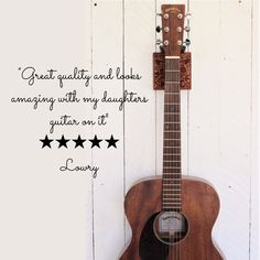 Handmade guitar holders make a great gift for any musician. Wooden wallmounts with steel hooks safely store and display your stringed instrument. #musicdisplay #instrumentstorage #giftsformusician #guitar #guitarplayer #stringedinstrument #storageideas #guitarhanger #guitarwallmount #wallhook #madeinireland #woodenholder #mandala Guitar Wall Hanger, Concrete Block Walls, Hanger Hooks, Forged Steel, Solid Pine, Wooden Walls, Music Quotes, Wall Mount, Ireland