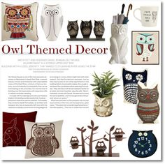 """Owl Themed Decor"" by galina-gavrailova on Polyvore"