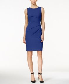 aa55696c4d9 Calvin Klein Sunburst Sheath Dress - Black 16