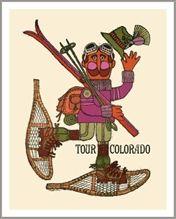 Ski Poster of Tour Colorado, 22 x 28 in