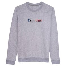 "Sweat-shirt gris ""Together"" Lutz Huelle pour Le Printemps"