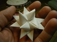 Read information on Origami Projects 3d Christmas, Christmas Paper Crafts, Homemade Christmas, All Things Christmas, Holiday Crafts, German Christmas Decorations, German Christmas Ornaments, Diy And Crafts, Crafts For Kids