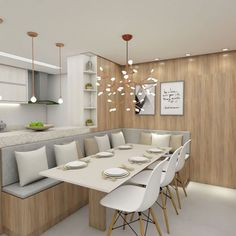 Kitchen Room Design, Dining Room Design, Home Decor Kitchen, Kitchen Interior, Design Table, Kitchen Decor Themes, Chair Design, Banquette Seating In Kitchen, Dining Nook