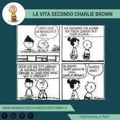 La vita secondo #CharlieBrown: Nostalgia di casa. #Peanuts