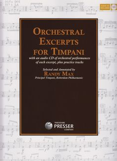 Max, Randy. Orchestral excerpts for timpani.