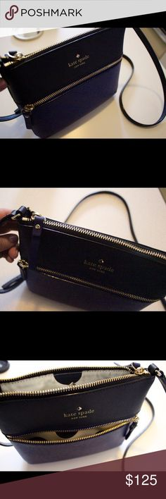 kate spade new york- Cedar Street Tenley Crossbody Barely used authentic kate spade cedar street tenley crossbody, in rare blue/black coloring! Everything is in great condition, and it's a great bag; selling because I am ready for a new purse! kate spade Bags Crossbody Bags